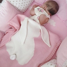 3 Color Baby Blankets Rabbit Crochet Newborn Blanket Kids Cotton Bedding Cover Appease Sofe Newborn Babies manta bebe linens