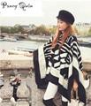 2016 женщин Зимы Шарф с hat Пряжка большой мощности длинные Кашемир утолщенной теплые платки женщины Бахрома Пончо Женщины пончо Шаль