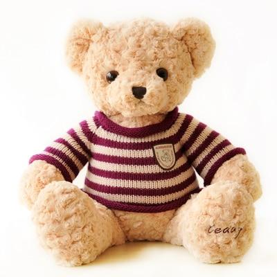 stuffed animal light brown teddy bear doll 65cm sweater bear plush toy gift w2730 stuffed animal 120cm tie teddy bear plush toy brown teddy bear doll gift t6095