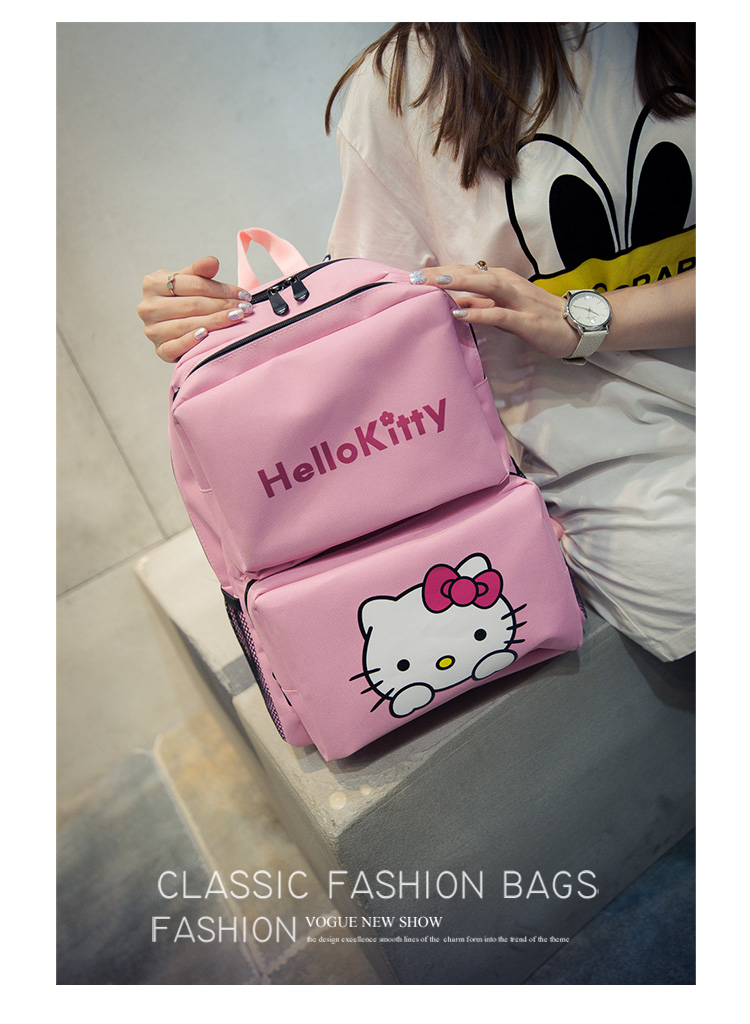 O Kitty Lovely Pink Canvas Backpack For S School Satchel Lady Travel Casual Laptop Bag Schoolbagsusd 25 99 Piece