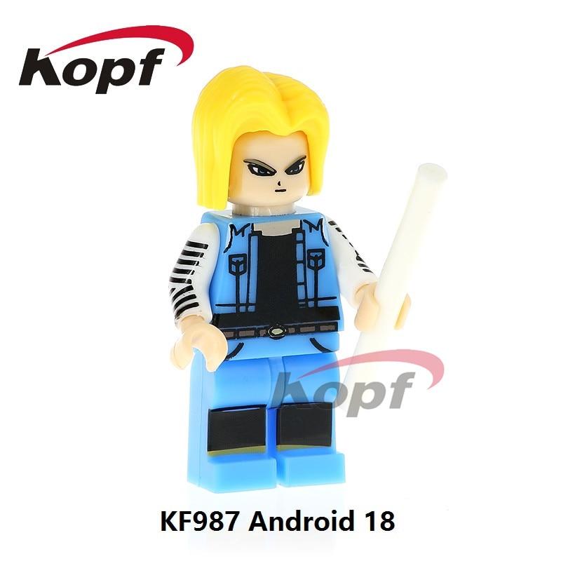 KF987 Dragon Ball Z font b Figures b font Super Heroes Android 18 Black Goku Vegeta