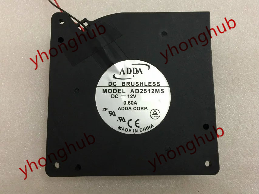 ADDA AD2512MS DC 12V 0 60A 2 wire 80mm Server Blower cooling fan