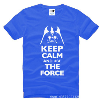 Keep Calm and Use The Force Print STAR WARS Movie T Shirt Tshirt Mens Men Fashion 2016 Cotton T-shirt Tee Shirt Homme 8