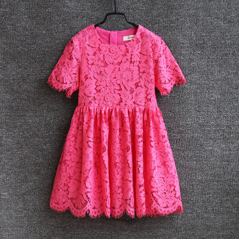 Summer new children clothing women lace skirts family Paternity matching clothes mother daughter dress baby and mom girl dresses family clothing spring matching clothes mother daughter long sleeve dresses and vest two piece set matching mom daughter dress