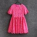 Verano de los nuevos niños clothing mujeres atan faldas familia juego ropa de paternidad madre hija vestido de la mamá y del bebé vestidos de niña