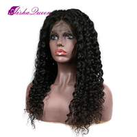 Lace Front Human Hair Wigs For Women Deep Curly Weave Black Human Hair Wigs With Short Remy Baby Hair Full End
