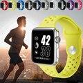 Mais novo flexível de silicone respirável esportes banda para apple watch série 1 série 2 38mm 42mm pulseira de borracha para iwatch volt