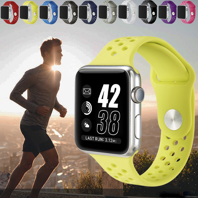 apple watch series 2 38mm. probefit flexible breathable silicone sports band for apple watch series 1 2 38mm 42mm rubber 38mm n