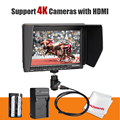 Feelworld FW-74K 7 Polegada HD IPS 1280x800 HDMI Monitor de Campo DSLR + bateria + carregador para panasonic gh4 sony a7s sony fs7 4 k uhd