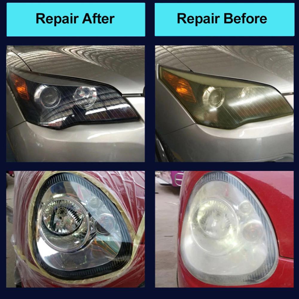 Image 5 - Goxfaca Car Headlight Renovation Repair Kit Repair Spray Polishing Coat Repair Car UV Lights Polishing Tool Headlight Cleaning-in Car Washing Liquid from Automobiles & Motorcycles