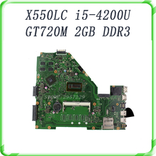 For ASUS X550LC I5-4200CPU Non-integrated REV2.0 90NB02H1-R00070 GT720M 2GB DDR3 Mainboard full tested OK