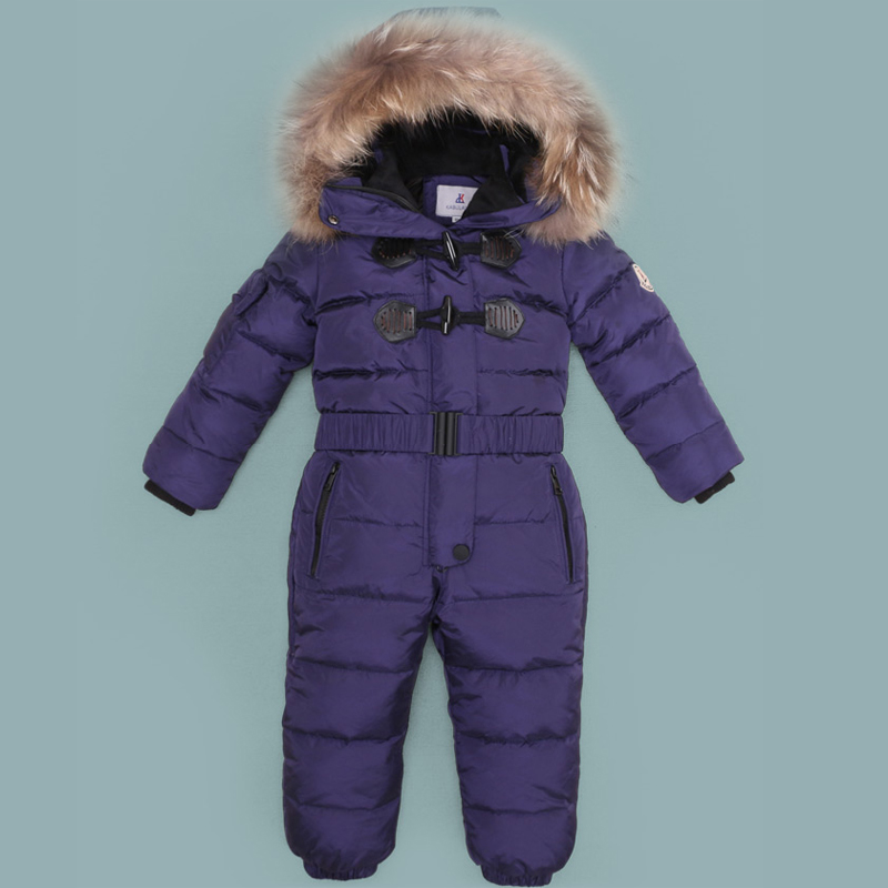 Mioigee Baby Snowsuit 2017 Winter Baby Boys Rompers Warm Overalls for Baby Girls Newborn Clothes Thicken Down Romper