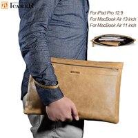 Dla IPad Pro 12.9 Rękaw Torba Luksusowe Biznes Styl Skrzynki Kieszonki Tablet Pokrywa dla Macbook Air 13 Cal 11 Cal na Powierzchni książka/Pro4