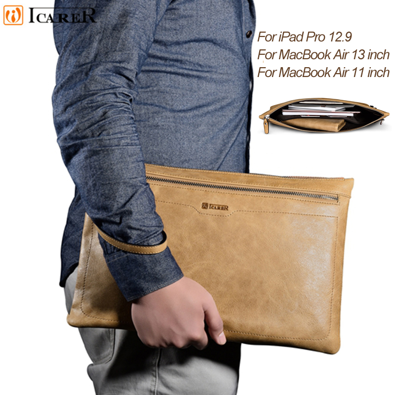 For IPad Pro 12.9 Sleeve Bag Luxury Business Style Case Pouch Tablet Cover for Macbook Air 13 Inch 11 Inch for Surface Book/Pro4 megoo surface book 13 5 leather case sleeve cover pu ultra thin for microsoft surface book 13 5 for macbook air 13 3