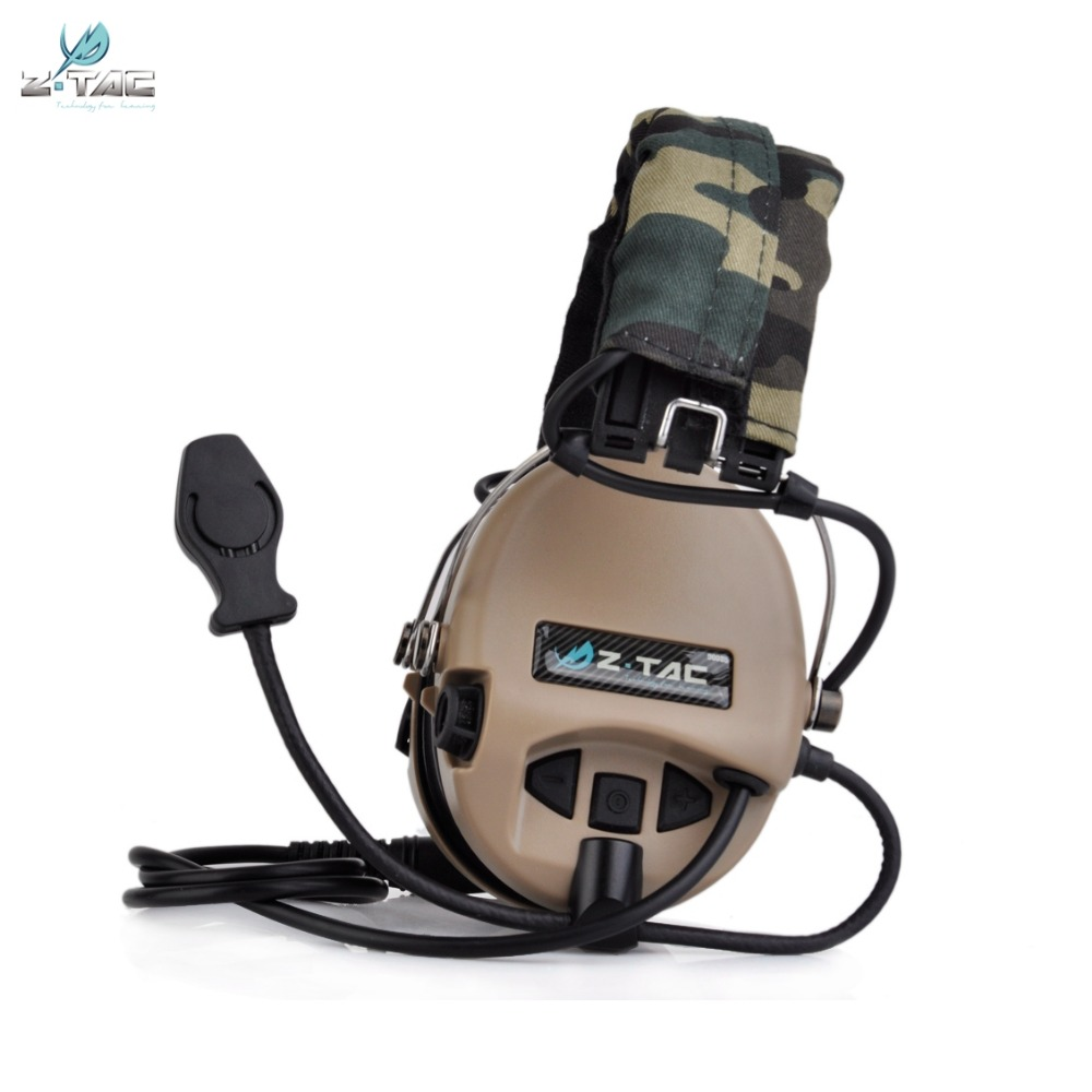 Z Tactical Sordin Headset Noise Canceling Earphone Airsoft Military Wargame Hunting Shooting Headphone Z111 DE z tactical noise reduction headset comtac ipsc style tactical hunting shooting protective earphone for airsoft military radio
