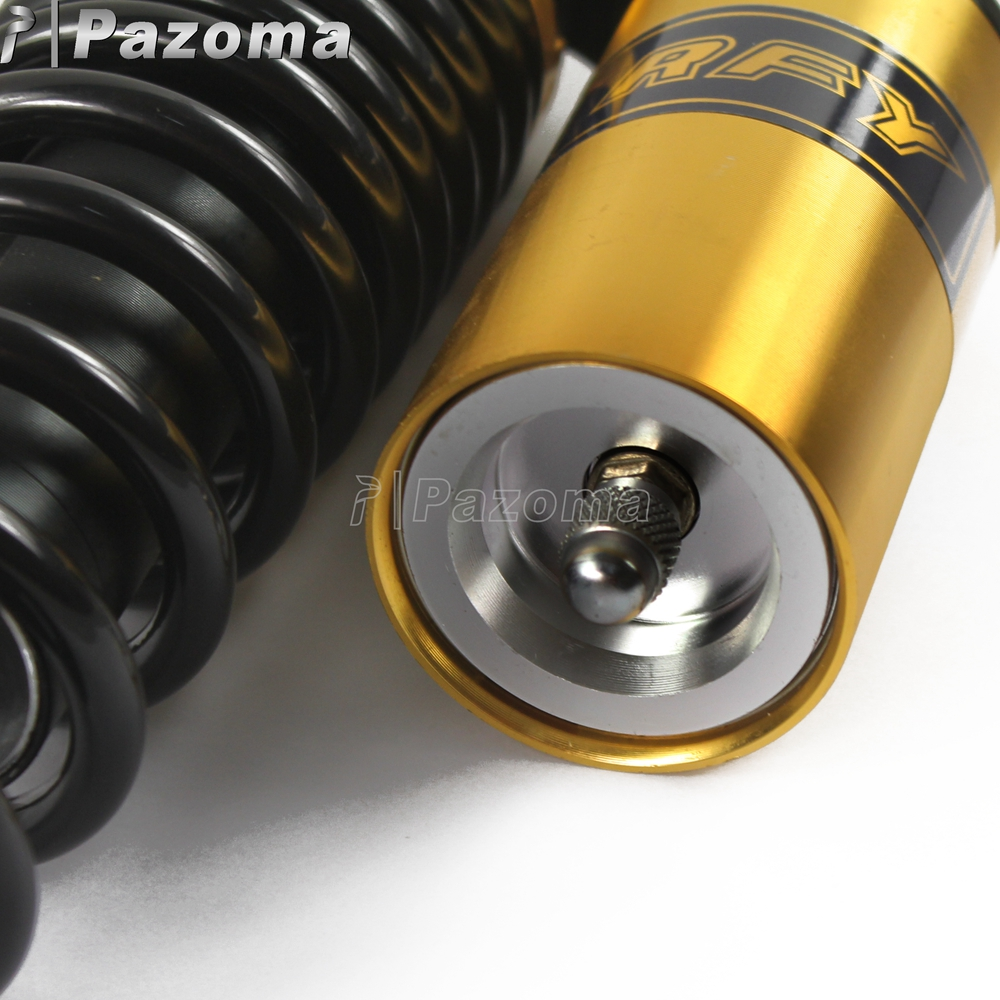 1 Pair Golden Motorcycles ATV Dirt Bike Rear Suspension Shock Absorber Round Clevis Ends for BMW Honda Kawasaki Yamaha in Side Lining from Automobiles Motorcycles