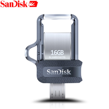 SanDisk Original OTG USB Flash Drive 32GB 16GB USB 3 0 Dual font b Mini b