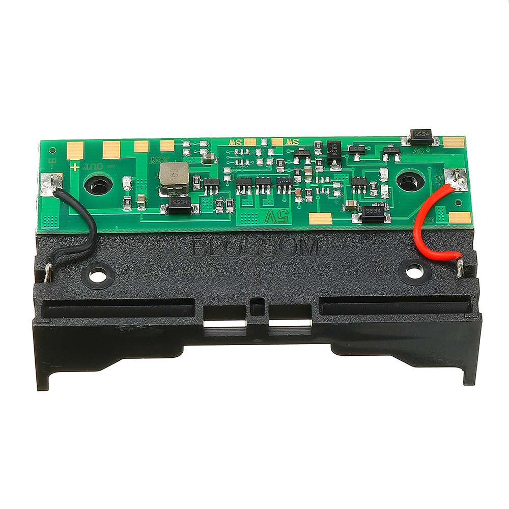 LEORY 5V 2*18650 Lithium Battery Charging UPS Uninterrupted Protection Integrated Board Boost Module With Battery Holder