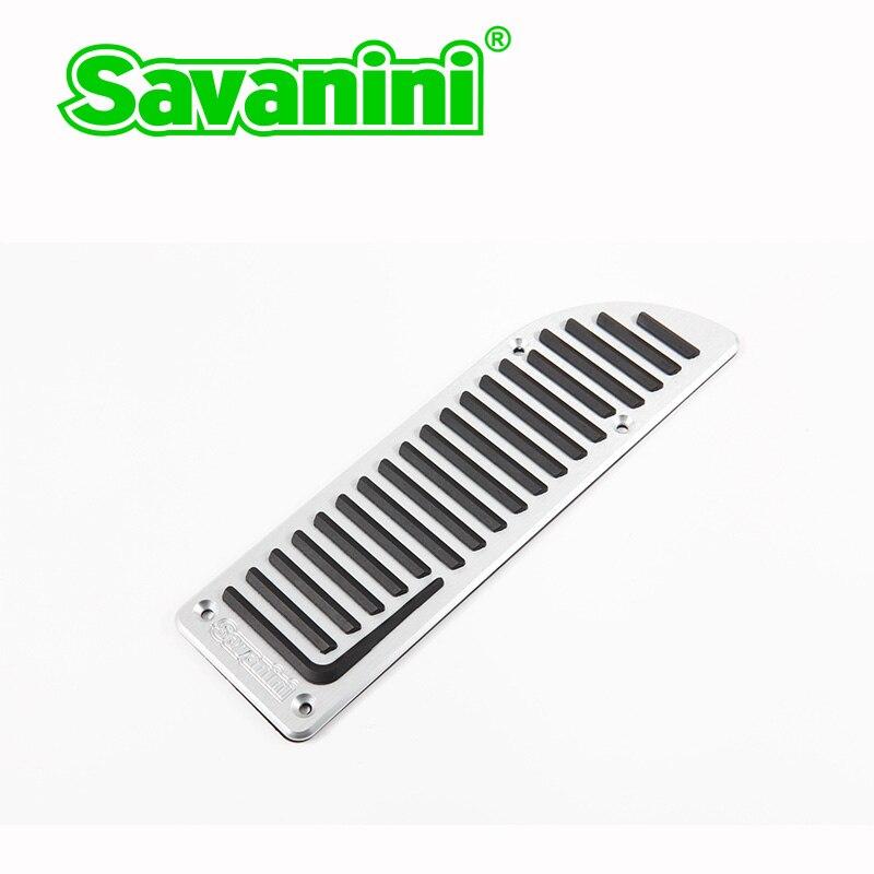 Savanini, алюминиевая подставка для ног, газовые тормозные педали, комплект для Volvo S60 S80L XC60 S60L V60, авто, без сверления, стильный дизайн - Название цвета: Footrest pedal