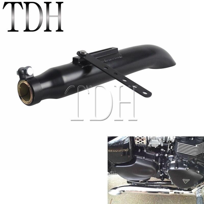 Chopper Universal Motorcycle Exhaust Silencer Black Custom Bobber