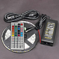 12V 5M 5050 SMD Cuttable led ribbon RGB 300 flexible strip diode tape light+44 key remote controller+12v 5A power supply
