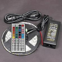 12V 5M 5050 SMD Cuttable led ribbon RGB 300 flexible strip diode tape light+44 key remote controller+12v 5A power supply