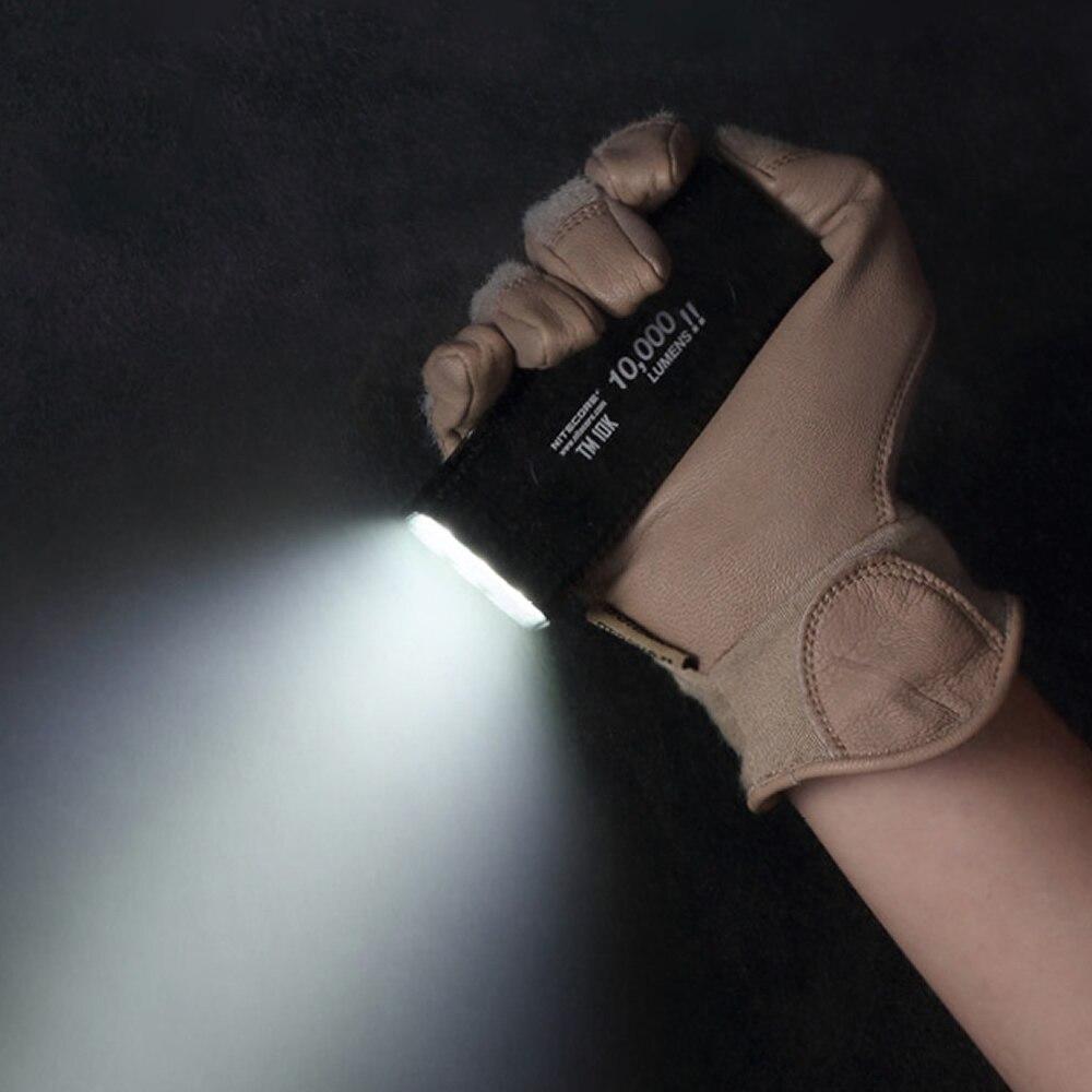Image 4 - NITECORE TM10K latarka LED tiny monster CREE XHP35 HD 10000 LM akumulator latarka wbudowana 4800mAh bateriaLatarki LED   -