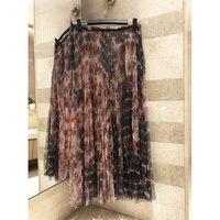 2019 женские летняя плиссированная юбка двухслойные сетчатая ткань, с лентой окрашенная печать Высококачественная юбка шелковая подкладка