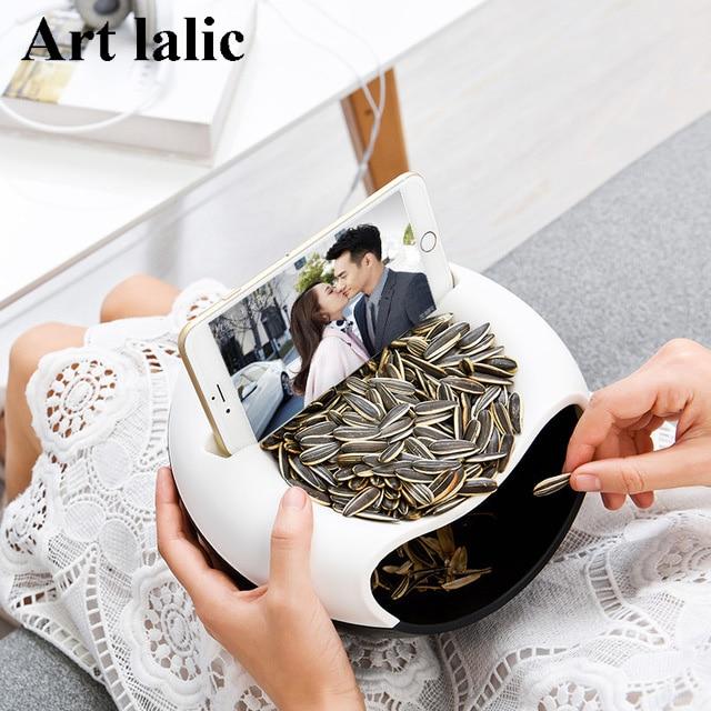 새로운 디자인 플라스틱 오픈 더블 레이어 캔디 스낵 드라이 과일 멜론 씨앗 홀더 보관함 접시 트레이 상자 홈 장식 2017 패션