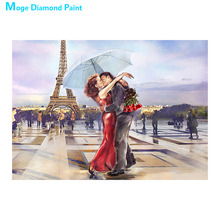 Lovers under the umbrella Diamond Painting Full Round portrait New DIY Sticking Drill Cross Embroidery 5D Oil painting style