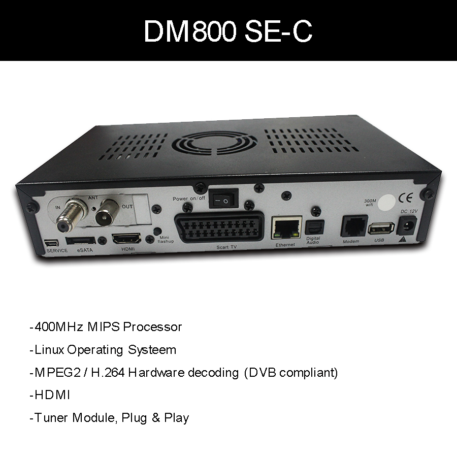 US $200 07 |DM800HDSE HD PVR Cable receiver D11 Versrion A8P SSL84D support  Openpli 4 0 Free shipping-in Satellite TV Receiver from Consumer