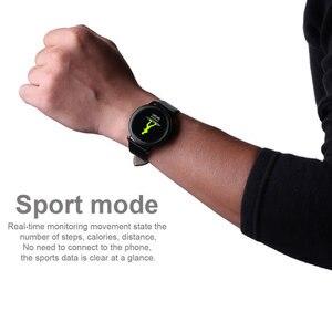 Image 5 - CF18 1.22 Inch Smart Watch Waterproof IP67 Blood Pressure Heart Rate Monitor Metal Starp Multi Sport Modes SmartWatch Women Band
