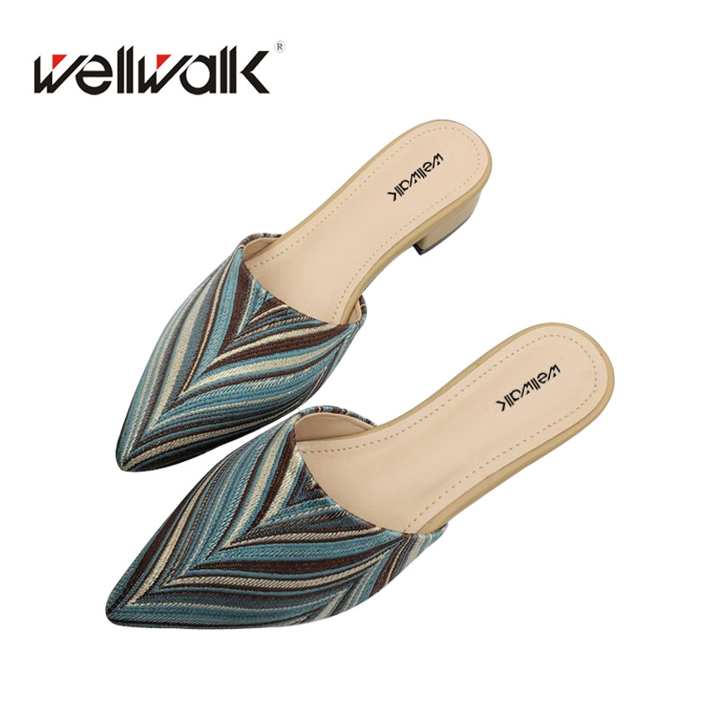 Ladies shoes 2018 Fashion Women Loafer Mules Pointy-Toe High Quality Women Slippers Spring&Autumn Outside Women Slides new 2017 spring summer women shoes pointed toe high quality brand fashion womens flats ladies plus size 41 sweet flock t179