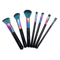 New 7 Pcs Colorful Copper Makeup Brushes Set Beauty Powder Foundation Blush Tools Blending Maquillage Brush