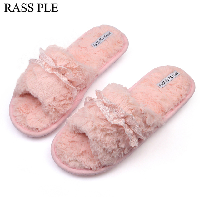 RASS PLE Home,House,Slippers Shoes Women Lace Bow Tie Open Toe ...
