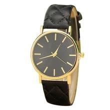 Durable Hot!!! 2015 Fashion erkek kol saati Ladies Watch watch women Belt Diagonal  Relogio masculino Checkered Quartz Watch