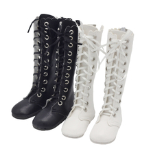 7CM Fashion Boots Hand Made High Heel Bandage PU Leather Shoes for 60cm 1/3