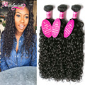 Cheap 8A Water Wave Malaysian Virgin Hair Bundles Wavy Hair 3 Bundles Water Wave Virgin Hair Curly Weave Human Hair Extensions