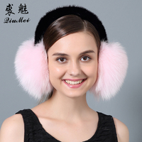 Real Fox Fur Ear Muffs Winter Earmuffs Warmer For Girls Genuine Fur Earmuffs Natural Fox Fur