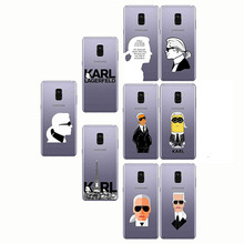 Fashion Karl Lagerfeld Green Soft Silicon TPU Case Cover for Samsung A6 2018  S10 PLUS Lite J6 Plus J4