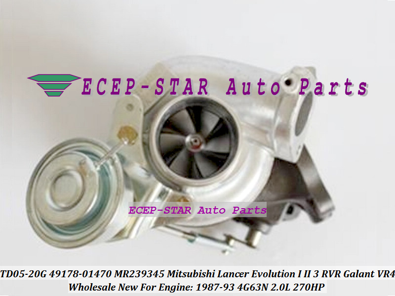 TD05-20G 49178-01470 4917801470 MR239345 Turbo For Mitsubishi Lancer Evolution I II III RVR Galant VR4 1987-93 4G63N 2.0L 270HP (1)