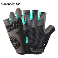 Santic Cycling Gloves Half Finger MTB Road Mountain Bike Gloves Men Spring Summer Autumn Outdoor Sport Gloves Guantes Ciclismo