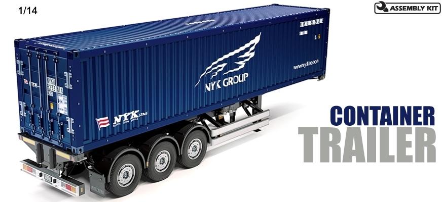 1/14 Tamiya Semi Container Trailer 1 14 tamiya benz new actros tractor trailer roof antenna garnish