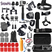 Gopro Hero 5 Accessories Set Helmet Harness Chest Belt Head Mount Strap Monopod Go pro hero3 Hero 4 session 3+ xiaomi yi GS51 gopro vented head strap mount на шлем для hero hero 3 hero3