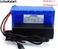 LiitoKala 24 V 6Ah 7S3P 18650 BMS Cyclomotor Electric Bicycle Battery 29.4 v 6000 mAh/ Electric/Li ion Battery +Charger 29.4V 2A