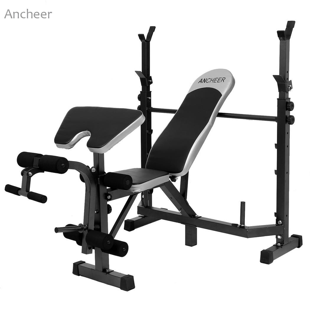Fitness & Body Building For Men Fitness Equipment Sit Up Benches Workout Benches with Squat Rack