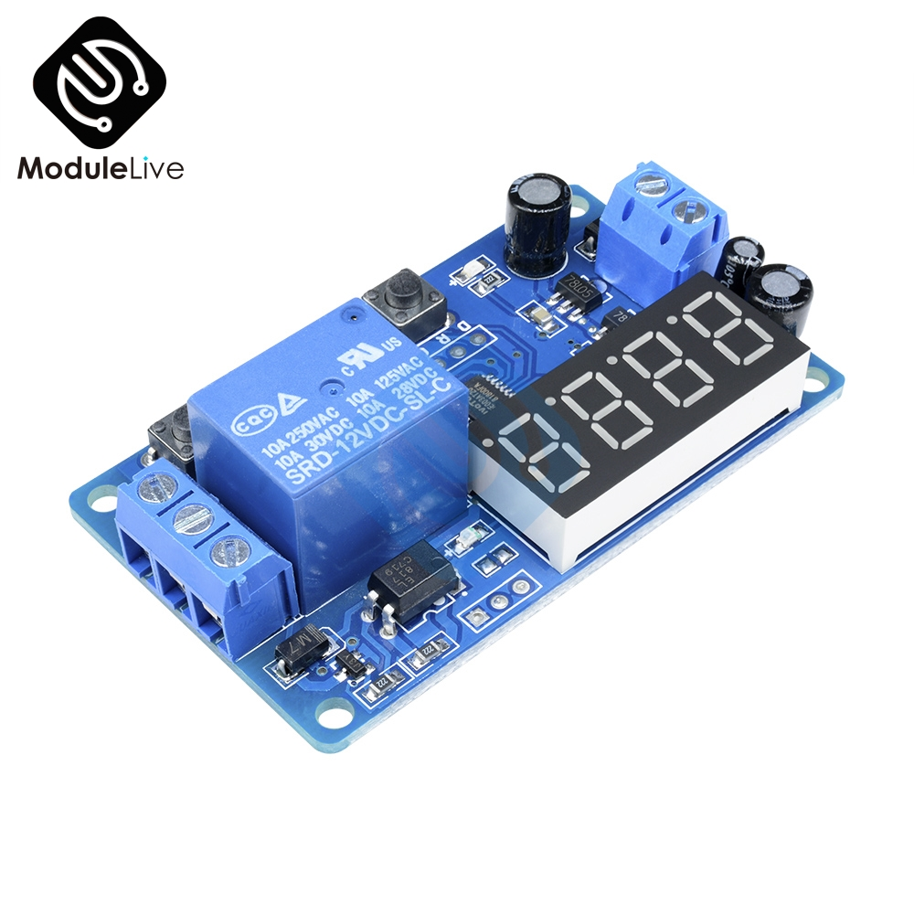 Dc 12v Led Display Digital Delay Timer Control Switch