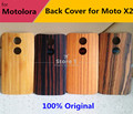Original Wooden Bamboo Back Battery Cover Door Housing Replacement for Motorola Moto X 2014 2 Gen X2 X+1 with Back Cover Sticker