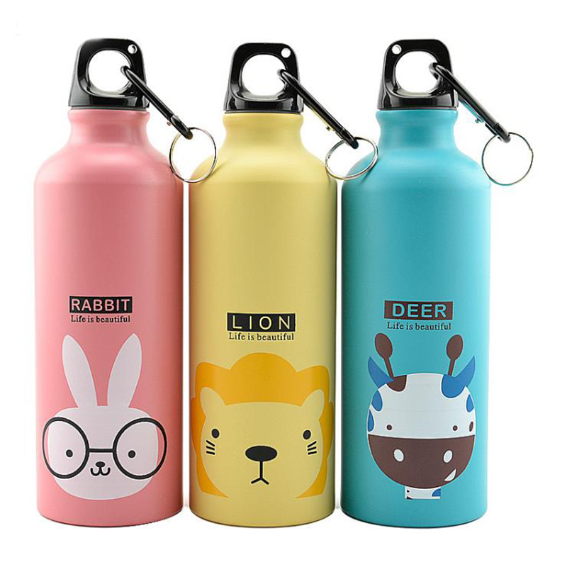 Cartoon Water Bottle Stainless Steel Thermocup Vacuum Thermal Water Bottle 500ml Funny Gift