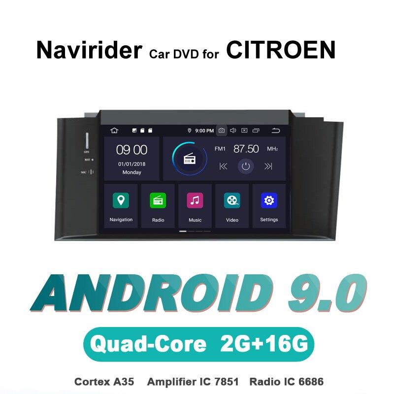 Navirider OS 9,0 проигрыватель Android для CITROEN C4L только Левостороннее управление радио gps-навигация bluetooth TDA7851 усилитель звука Системы